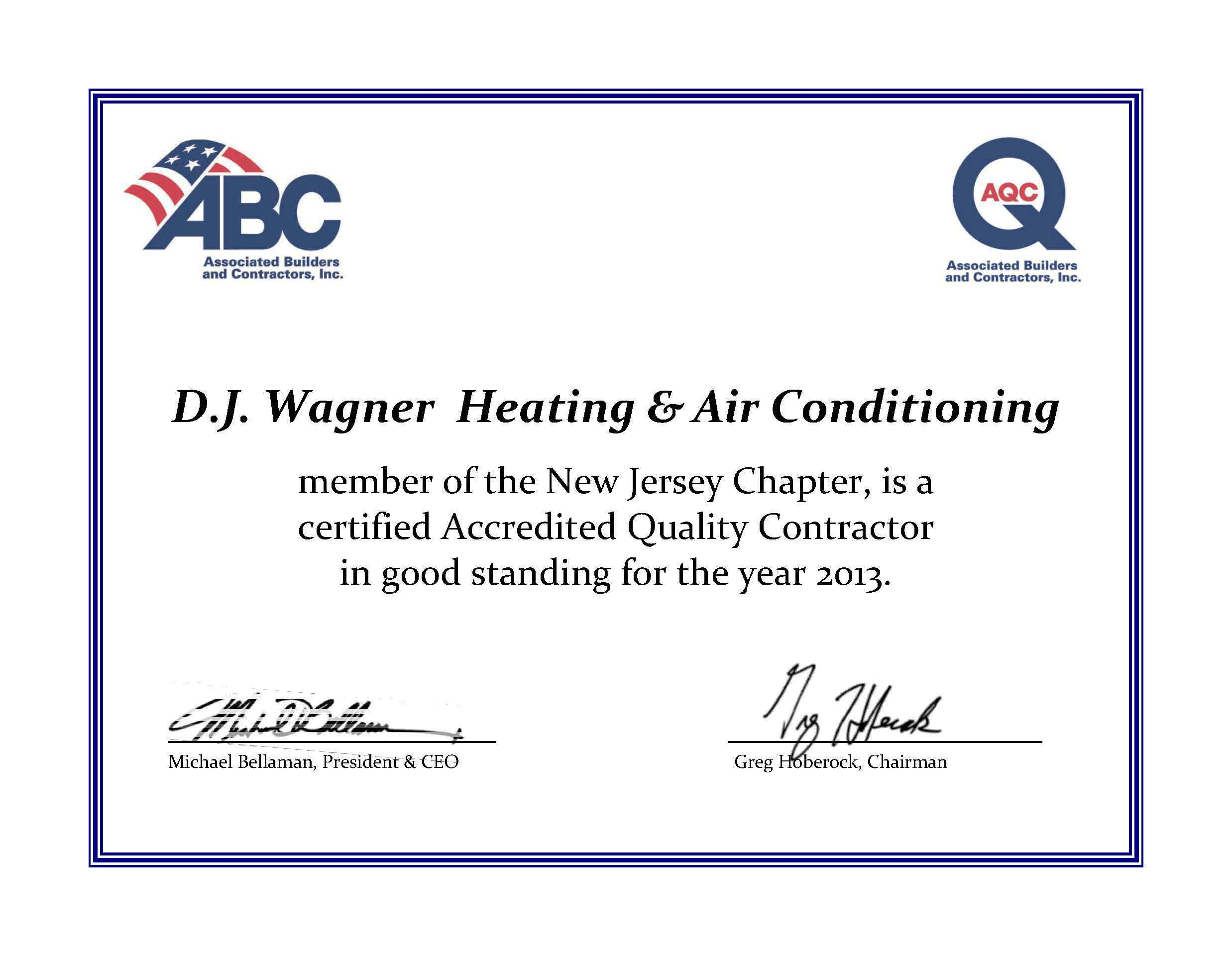 Wagner 2013 dj Wagner 2013 Aqc Certificate