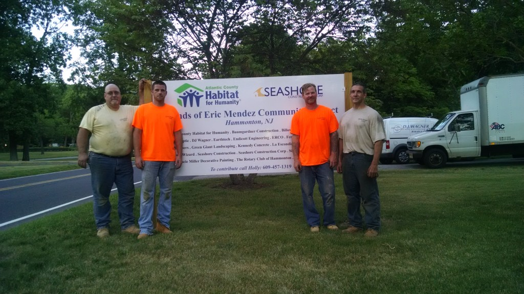 Pete Clausen, Mike Zane , Shawn Gillan, and Joe Alber out front of the Mendez House